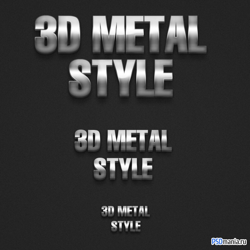 3D Metal Style