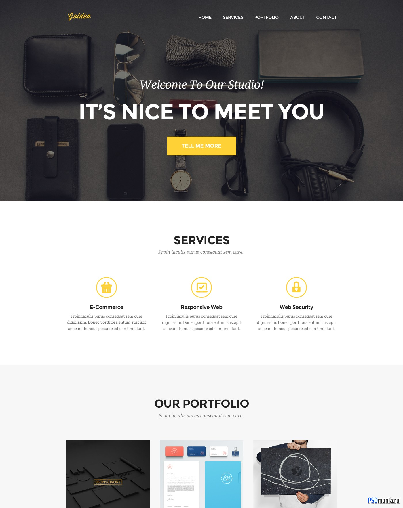 Golden - One Page Web Template