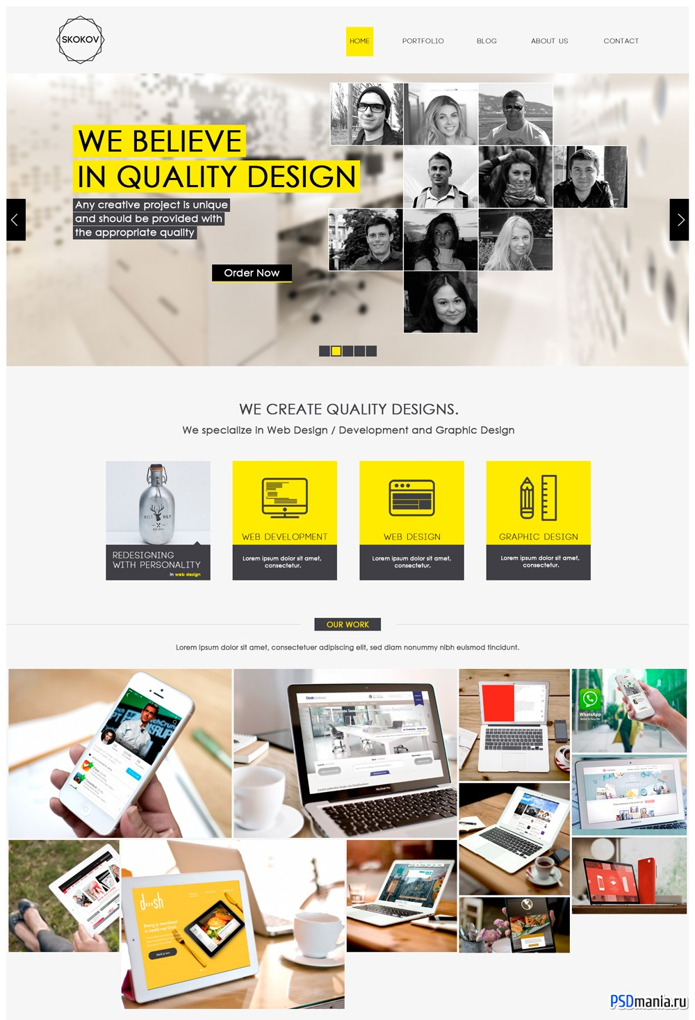 Template website - Skokov