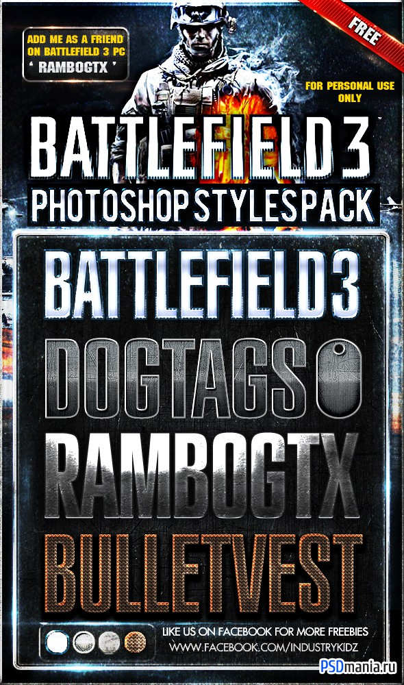 Логотипы в стиле Battlefield 3 | Logos in the style of Battlefield 3